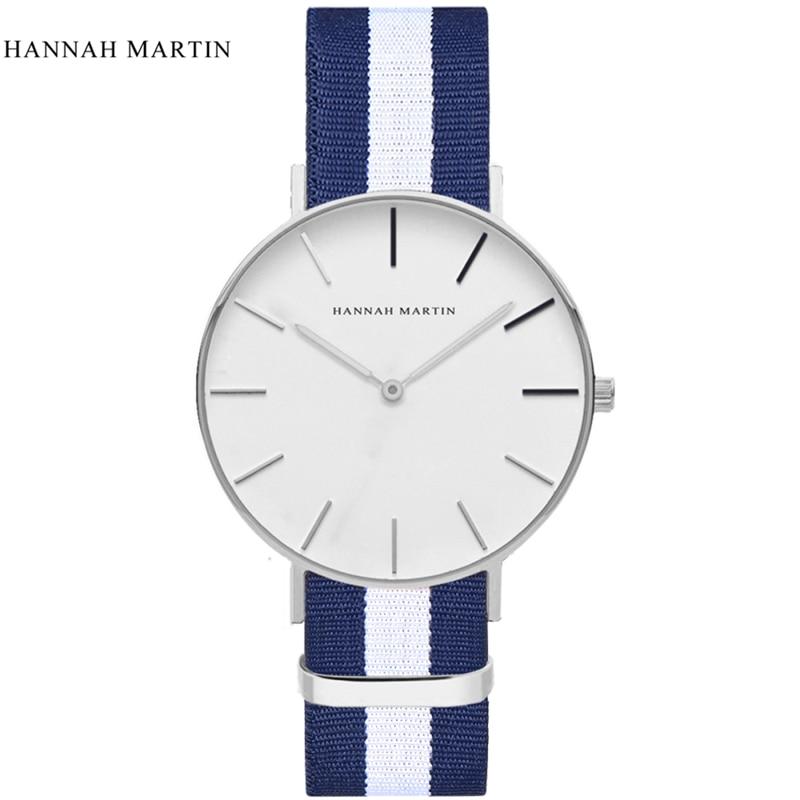 Casual Watches Waterproof Choose Fashion Hannah Martin Ultra thin Luxury Brand Simple Minimalism Design Men Wrist Watch mujer