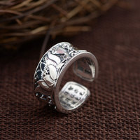 925 Silver Lotus Flower Ring 100 Real S925 Sterling Thai Silver Rings For Women Jewelry Adjustable