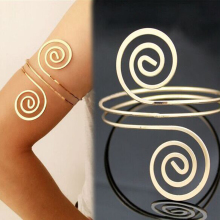 Arm Bracelet Adjustable Silver Gold color Arm Cuff Bangle Fa
