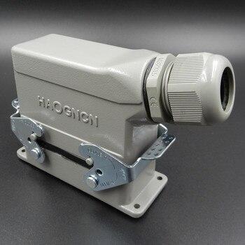 Heavy Load Connector HDC HD 064 1 Rectangle Plug Socket 64 Core 10A Cold Needle|socket cup|socket|socket 775 heat sink -