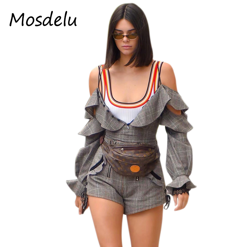 1b63955afb Mosdelu kendall jenner sleeveless bodysuit women top fashion rainbow summer rompers  womens jumpsuit shorts bodysuit open crotch free shipping worldwide