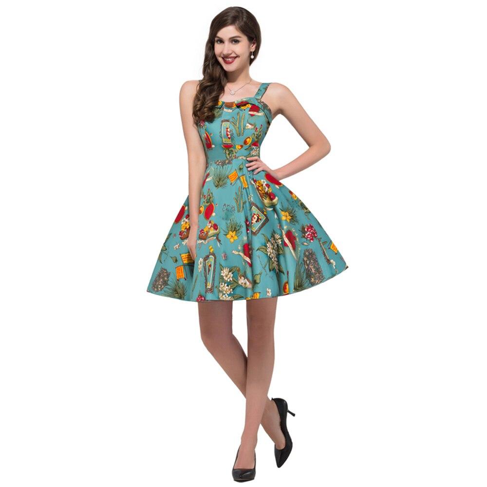 2017 frauen Kleidung Retro 50 s 60 s Stil Rockabilly Kleider Vintage ...