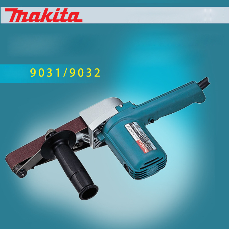 Original Japanese Makita 9031 belt machine 9032 portable belt sander polishing machine Sander ( belt sander )500W