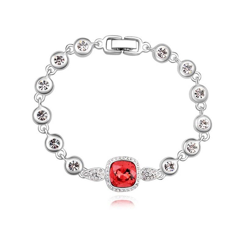 Fashion Brand Charm Bracelet Round Bangle Austrian Crystal Bracelets Gold Color Jewelry For Women Free Shipping