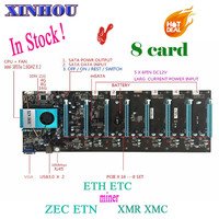 Mining Motherboard BTC IC6S (with cpu) Mining Motherboard 8 Graphics Cards Slots for ETH ETC ZEC ETN XMR XMC RVN MINER