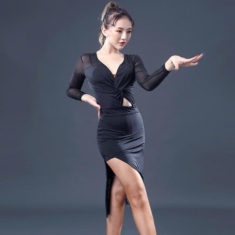 Latin Dance Dress Chacha Dance Dress For Women Black Lady -6459