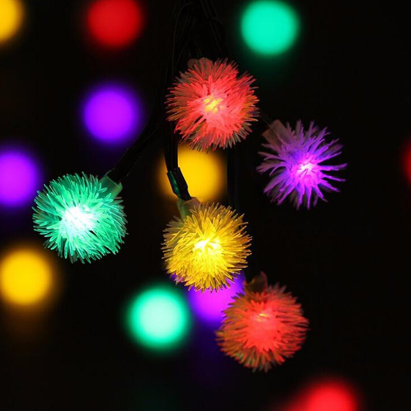 Outdoor Lighting Honey Chiclits Led Solar Lamp 20leds Fairy Hair Ball Garden Decoration Lights String For Yard Room Rooftop Christmas Tree Night Light
