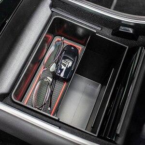 Image 5 - Auto Car Storage Trunk Bag Center Console Trash Organizer Storage Box Bin Accessories Kit for Tesla Model 3 Interior