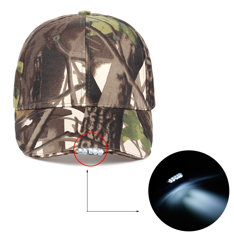 TUNICA New male hat camouflage night emergency lighting baseball cap cotton fashionable female cap adjustable adult sunscreen