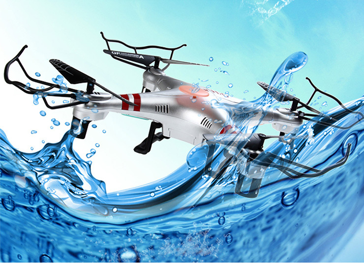 New Arrival Waterproof Drone Gptoys H2O Aviax 3D Eversion 6 Axis Gyro Headless Mode 2.4GHz 4CH LCD RC Quadcopter Toys aviax h2o waterproof drone headless mode 2 4ghz 6axis gyro quadcopter rc explorers led flashing lights support diy rtf