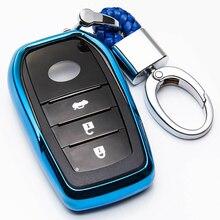 TPU zdalnie sterowany samochód klucz skrzynki pokrywa dla Toyota Chr C hr Land Cruiser 200 Avensis Auris Corolla brelok do kluczy przypadku akcesoria