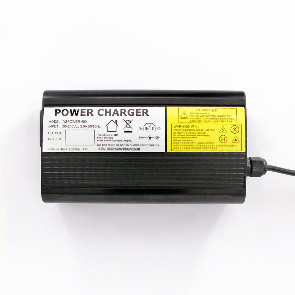 YZPOWER Auto Stop 67 2V 4A 3 5A 3A Lithium Battery Charger For 60V Li Ion