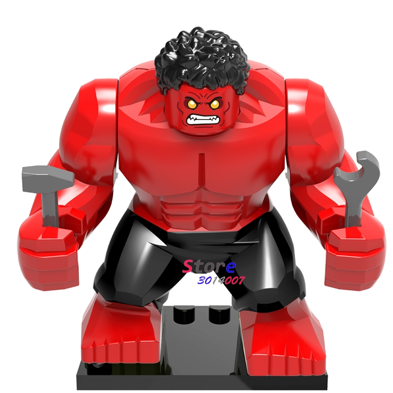 Single Sale Large Big Size Marvel Super Heroes Venom Atrocitus Atros Green Red Lantern Corps Building Blocks Toys for children