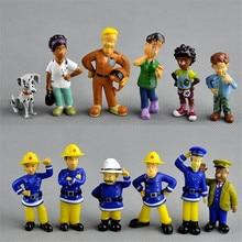 12pcs/set mini anime figure Fireman Sam Steel Penny toys for childre PVC action figure model Doll cake baking decoration цена