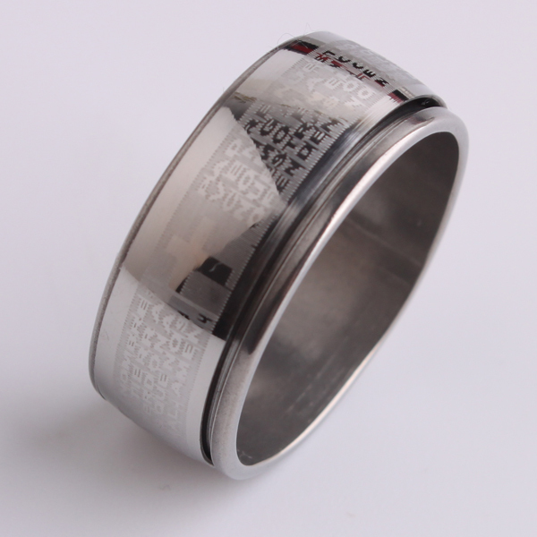 free shipping Wide 9mm cross Holy Bible 316L Stainless Steel finger rings for men jewelry wholesale