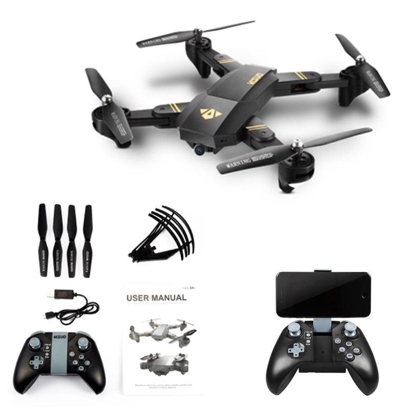 D'origine XS809W Mini Pliable Drone RC Selfie Drone avec Wifi FPV HD Caméra Maintien D'altitude et Sans Tête Mode RC Quadcopter Drone