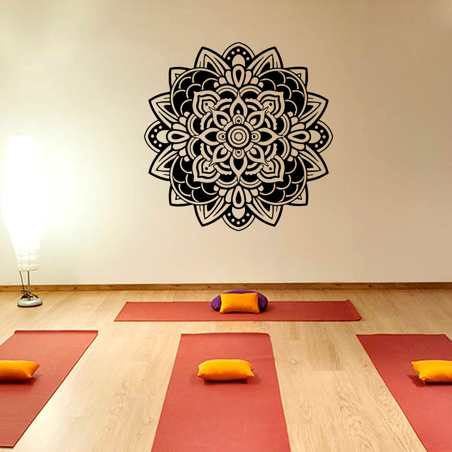 Bohe Mandala Flower Wall Paper Decor Yoga Studio Vinyl: Aliexpress.com : Buy Bohemian Style Mandala Flower Wall