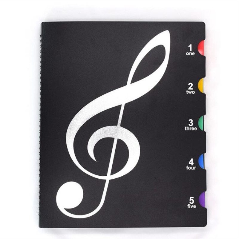 Image 2 - Multi layer color waterproof music folder file plastic data bag Filing Products document bag A4 music folder 20 pages-in File Folder from Office & School Supplies