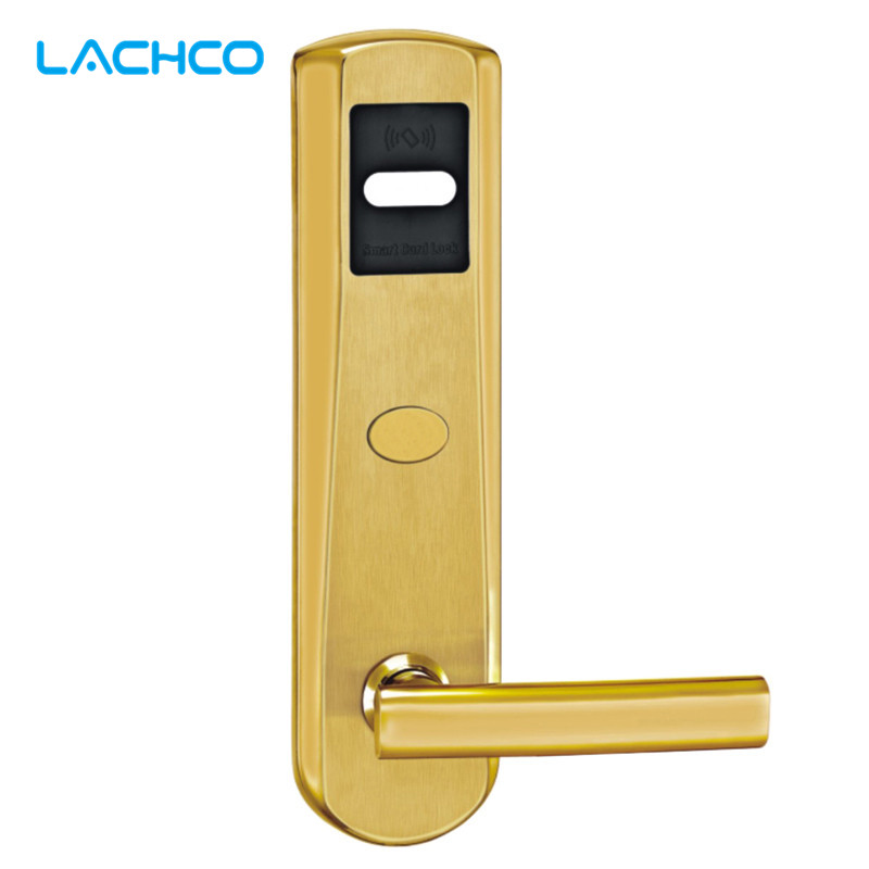 LACHCO Electric Door Lock RFID Card with Key Electronic Door Lock For Office Apartment Home Hotel Smart Entry L16018SG цена