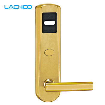 LACHCO serrure de porte électrique RFID carte avec clé serrure de porte électronique pour bureau appartement maison hôtel entrée intelligente L16018SG|door lock|hotel door lock card|door lock with key -