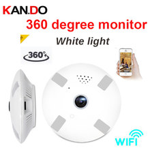 32-128gb 2.0MP 360 Panorama IP Camera Wifi bulb light camera interphone Surveillance bulb cctv Camera P2P VR camera white LED(China)