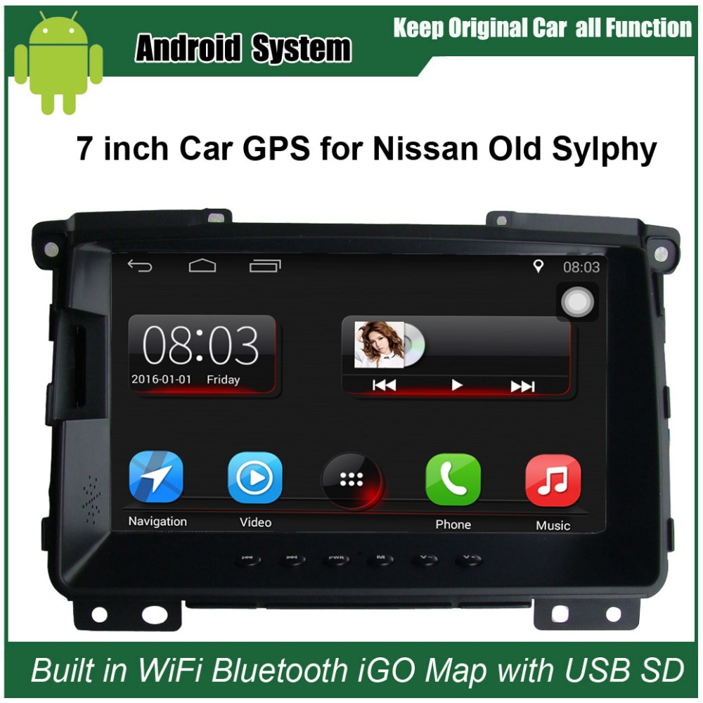 7 Inch Car GPS Navigation For Nissan Sylphy 2009 Before Car Radio Video Player WiFi Intelligent