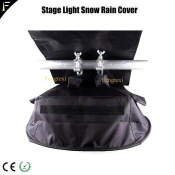 Transparant & Zwarte Sharpy Beam Moving Licht Regenhoes Weer Schild Spotlight Regen & Wind Kap Outdoor Show Waterdichte Cover 8 pcs