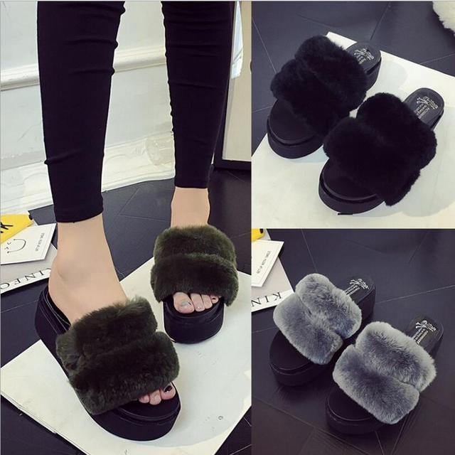Меховые тапочки Европейский Американский известный бренд женщина флип-флоп дизайн женщина скользит тапочки меха флип-флоп леди обувь x002
