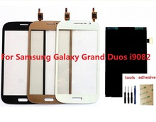 For Samsung Galaxy Grand Duos GT-i9082 i9080 i9082 Touch Screen Digitizer Sensor + LCD Display Screen + Adhesive + Kits