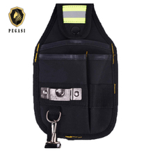 PEGASI Strong Oxford Cloth And Thicken Design Wear Waterproof Electrician Wide Tool Tools Bag Belt Holder Kit Pockets pegasi waterproof wearable oxford blue portable handbags mechanic tool tools bag durable wear resistant high reliability
