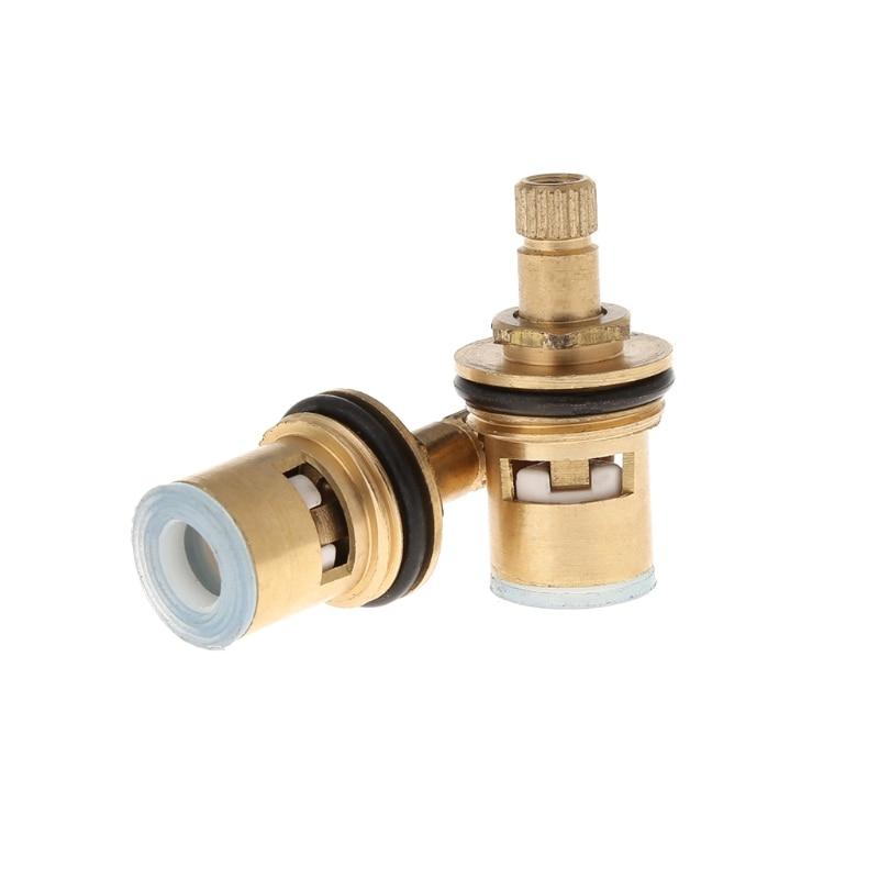HNGCHOIGE 2pcs Standard 1/2 Ceramic Faucet Cartridge Water Mixer Tap Inner Faucet Disc Valve Quarter Turn Cartridges