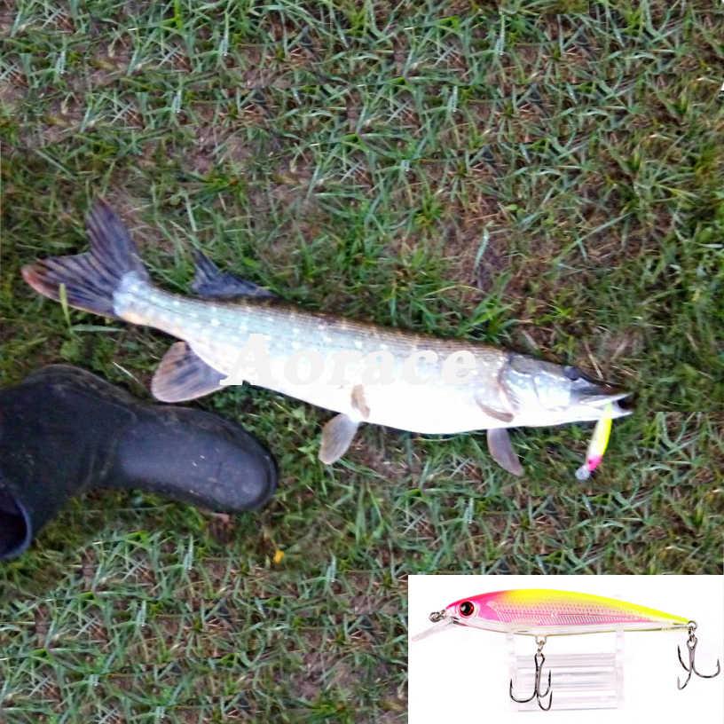 1 Pcs Laser Minnow Câu Lure 11 Cm 13G Pesca Móc Cá Wobbler Giải Quyết Crankbait Nhân Tạo Nhật Bản Mồi swimbait
