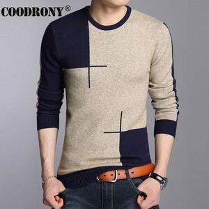 Image 3 - COODRONY 2020 冬新着厚く暖かいセーター O ネックウールセーター男性ブランド服ニットカシミヤプルオーバー男性 66203