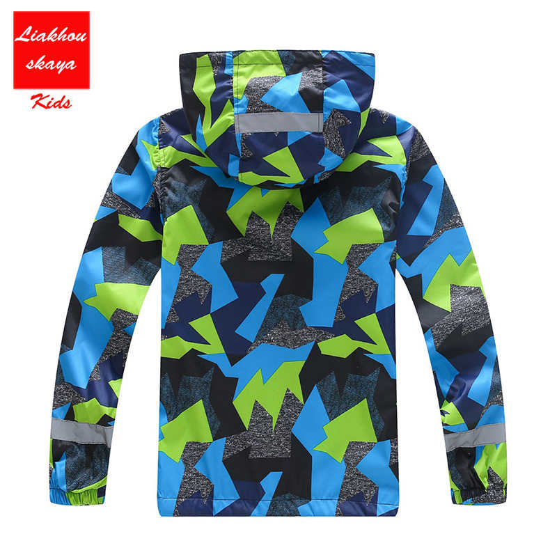 Liakhouskaya/2019 Детская куртка для мальчиков, теплые пальто, флисовая непромокаемая ветровка, Детская Весенняя верхняя одежда, толстовки, одежда