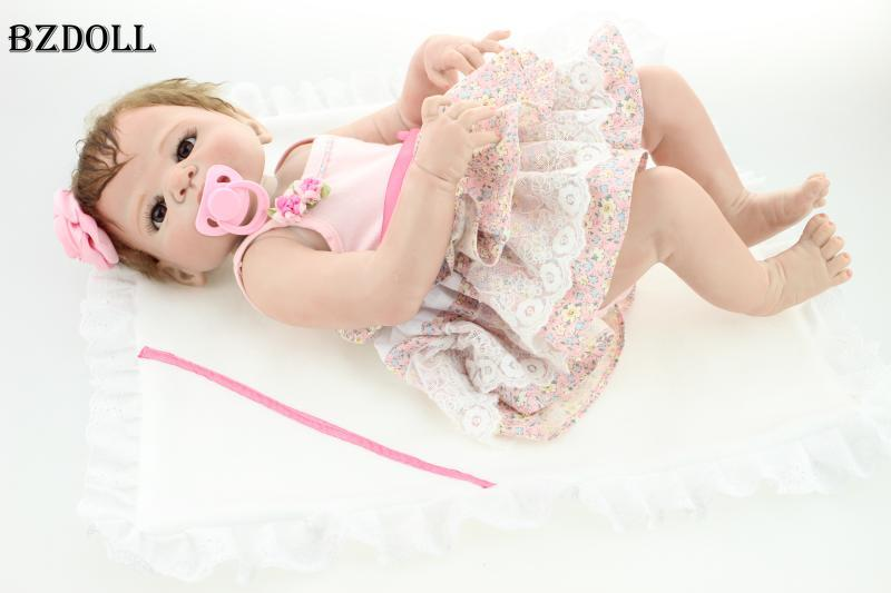 22 Full Body Silicone Reborn Baby Doll Toys Lifelike Newborn Girl Babies Child Brithday Gift DOLL Bathe Shower Toy22 Full Body Silicone Reborn Baby Doll Toys Lifelike Newborn Girl Babies Child Brithday Gift DOLL Bathe Shower Toy