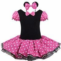 Kids Minnie Mouse Party Fancy Costume Cosplay Girls Ballet Tutu Dress Girls Polka Dot Dress Clothes