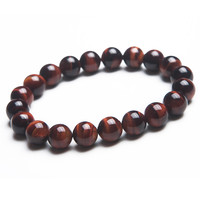 Wholesale Genuine Yellow Black Red Tiger's Eye Stretch Bracelets For Women And Mens 10mm Round Beads Natural Stone Bracelet