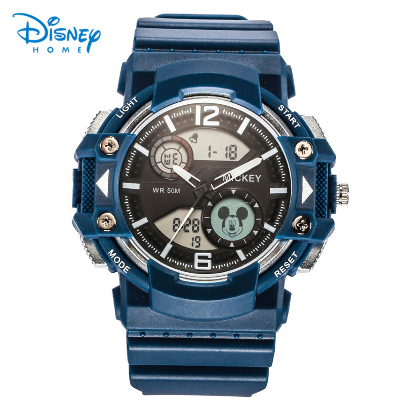 Disney Waterproof Sport Watches for Kids Boys Watch Mickey Mouse Digital Dual Display Wrist Watch LED Children's Wristwatch 2017 new colorful boys girls students time electronic digital wrist sport watch drop shipping 0307
