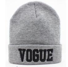 Chapéu do Inverno outono VOGUE Esporte Quente Gorros de Malha Chapéus Para mulheres  Homens Gorros De 1957f27ac94