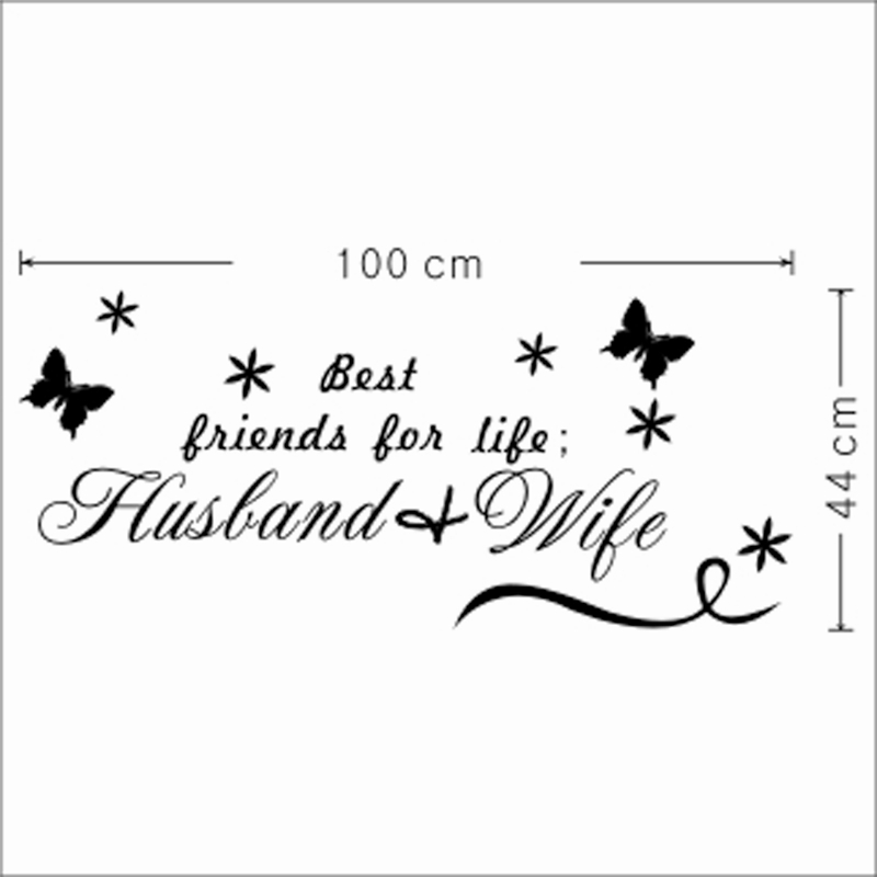 Best Friends For Life Husband Wife Wall Decal Bedroom Decorative