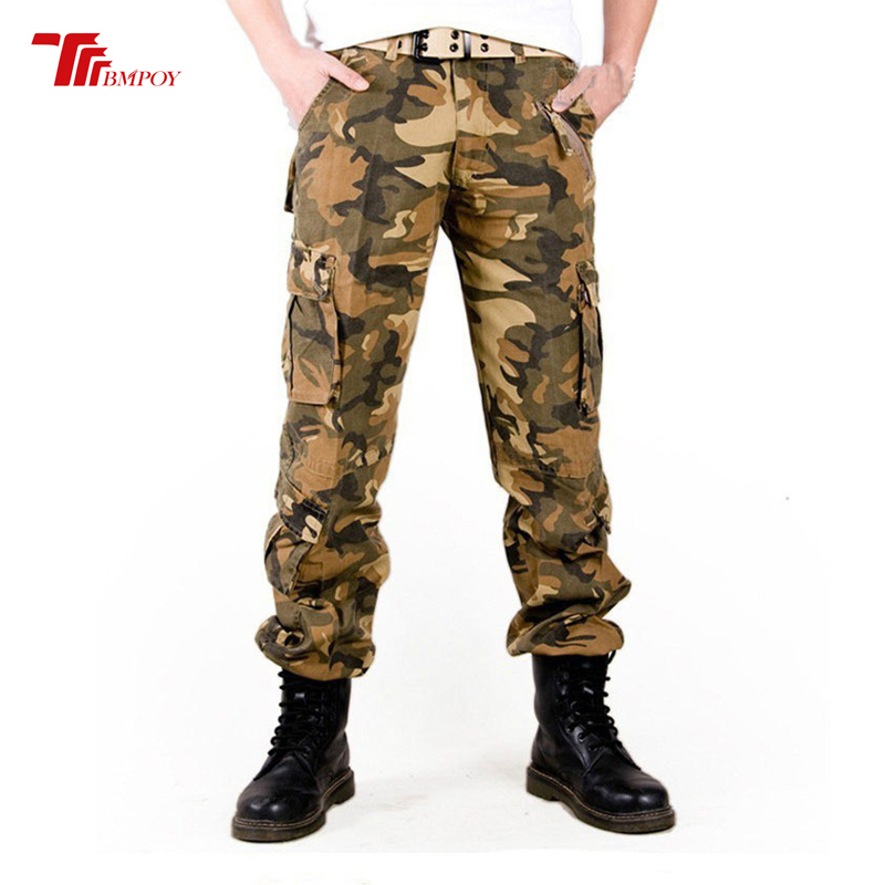 Pantalon cargo militaire homme pantalon homme Camouflage armée pantalon multi poche camo tactique pantalon sans ceinture