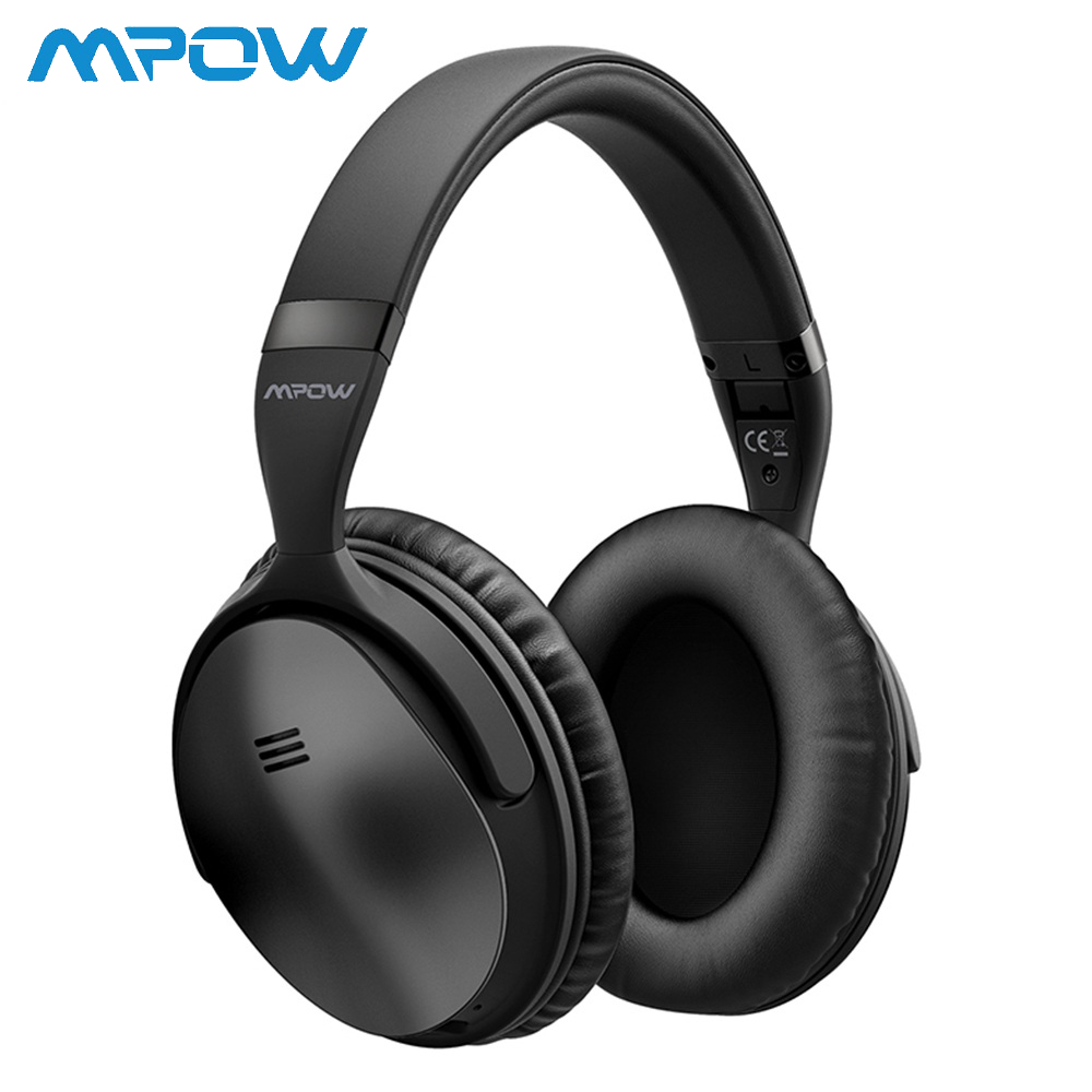 2 Gen 2nd Mpow H5 Noise Cancelling Bluetooth Headphones with Microphone Over-Ear Wireless Headset for HiFi Stereo&18Hrs Playtime