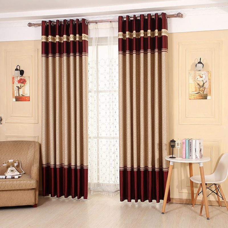 Japan Style Red/Coffee Embossed Thick Faux Cafe Hotel Curtains For Living  Room Window Curtains