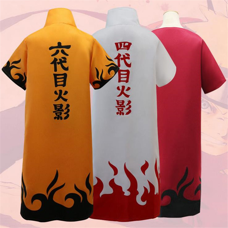 Hot Anime Naruto Cosplay Costumes Fourth Hokage Namikaze Minato Cape Outfit Cosplay Cloak