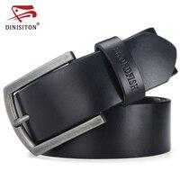 SWORDFISH Casual Jeans Belt New Designer Brand Belt For Men High Quality Genuine Leather Gold Pin