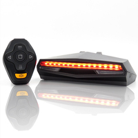 USB Rechargeable Smart Cycling Accessories Wireless Bike Tail Light Remote Control Turn Signal Led Bicycle Rear Novelty Light
