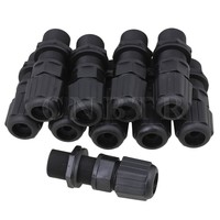 M20 Ethernet LAN RJ 45 RJ45 Nut AP Waterproof Connector DC 0 24V Set Of 10