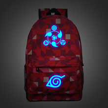 New Fashion Luminous Naruto Plaid Backpacks ( 9 colors)