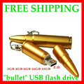 Wholesale Metal bullet real capacity Metal Bullet Shape Genuine 4GB 8GB 16GB 32GB 64GB 128GB memory USB Stick Flash Pen Drive