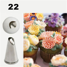 4YANG Daisy Flower Cream Nozzles Cake Decorating Tips Stainless Steel Icing Baking Tools for Cupcakes Dessert Decorators